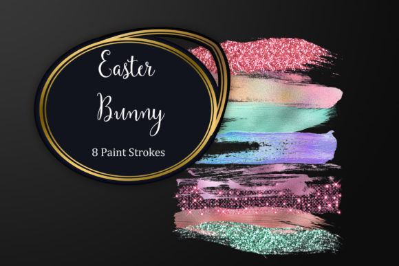 Easter Bunny Brush Strokes Graphic Brushes By Tara Artisan