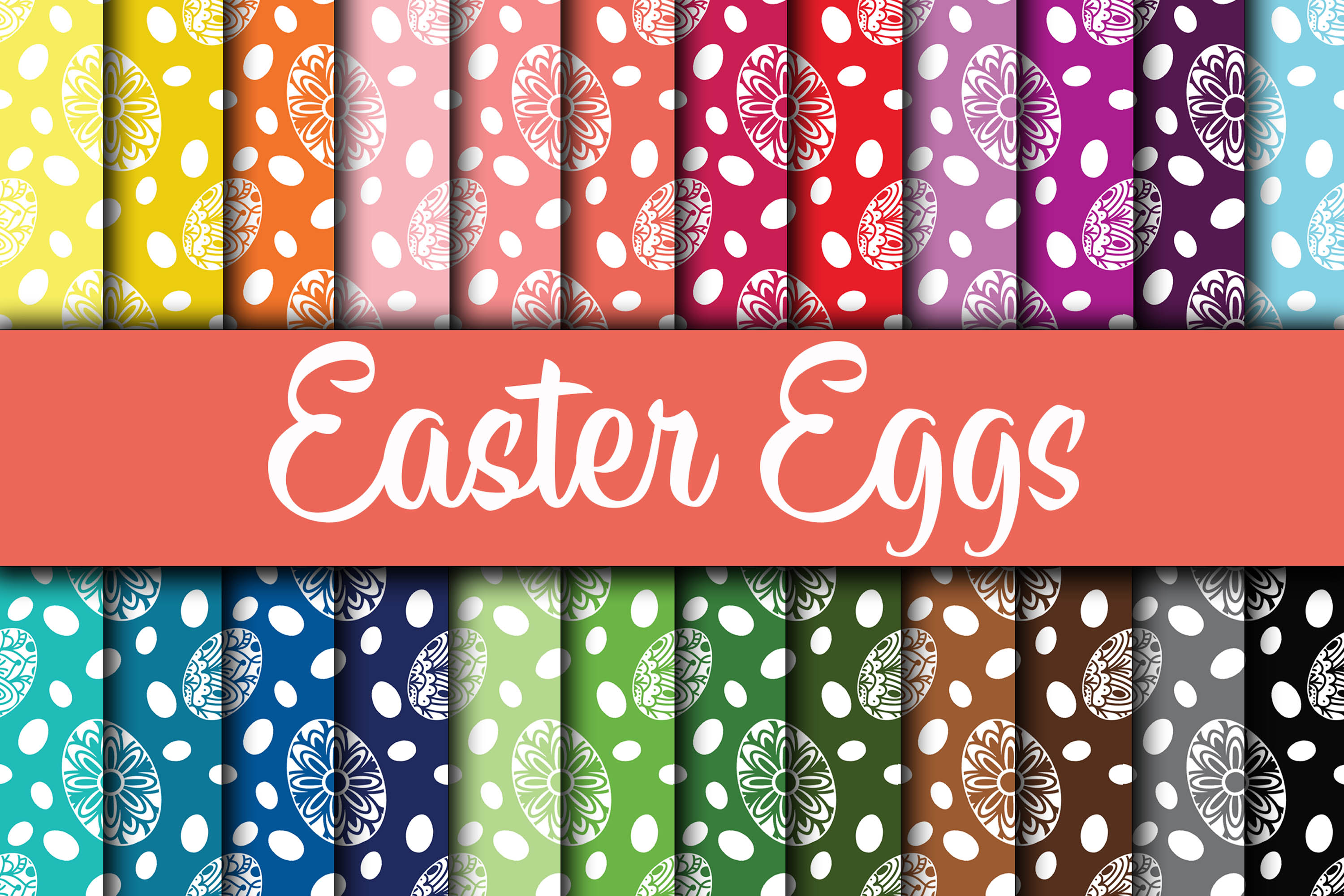 Download Free Easter Eggs Digital Paper Designs Graphic By Oldmarketdesigns for Cricut Explore, Silhouette and other cutting machines.