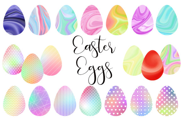 Easter Eggs Watercolor Clip Art Graphic Illustrations By PinkPearly
