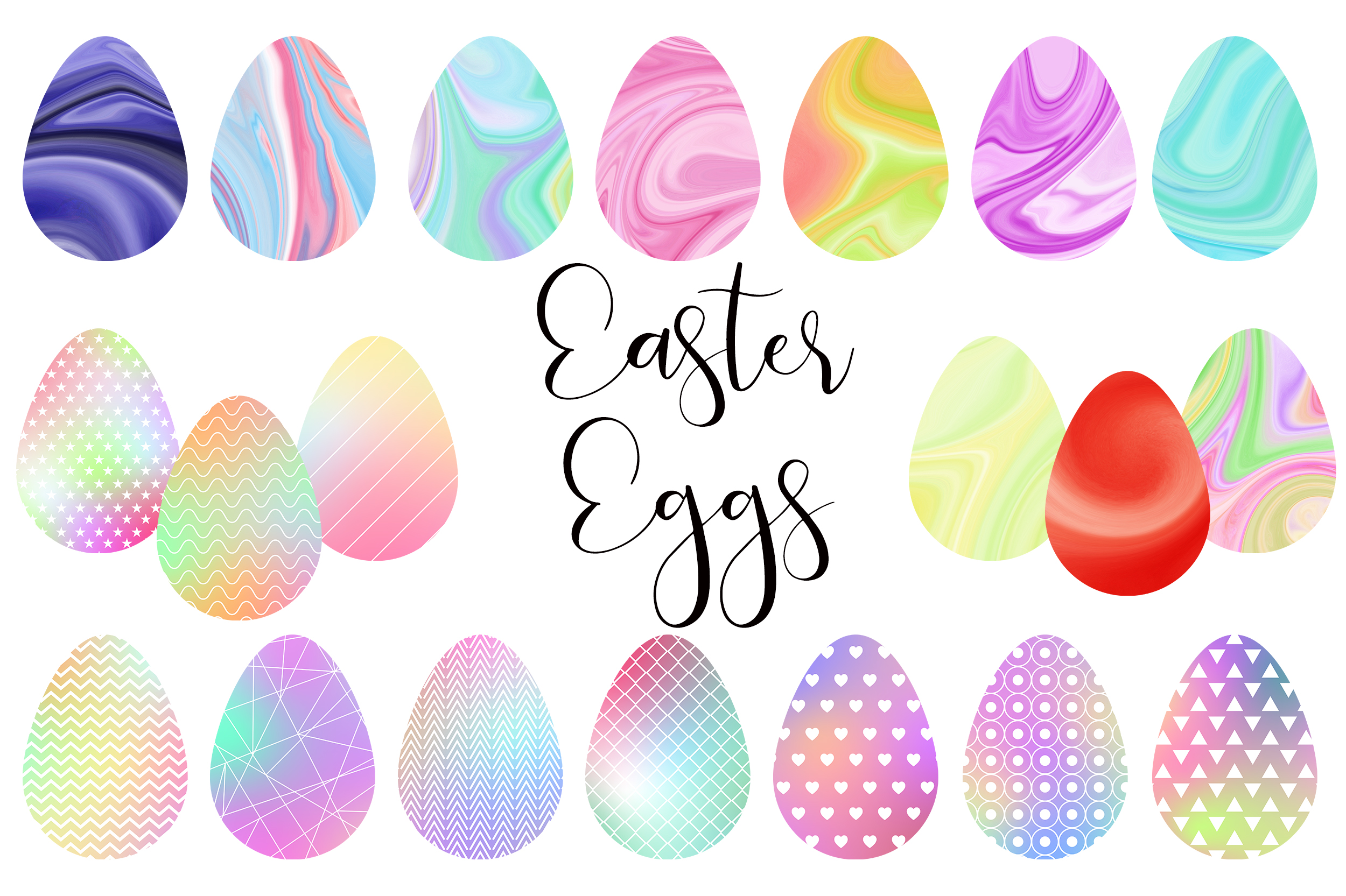 Download Free Easter Eggs Watercolor Clip Art Graphic By Pinkpearly Creative for Cricut Explore, Silhouette and other cutting machines.