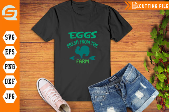 Eggs Fresh from the Farm Poster Graphic Crafts By Crafty Files