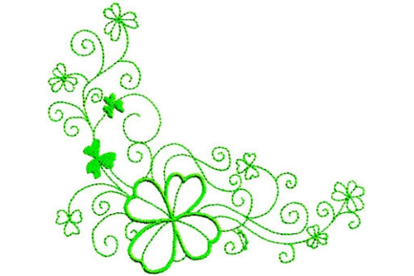 Enchanted Irish Luck St Patrick's Day Stickdesign von Sue O'Very Designs