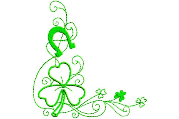 Enchanted Irish Luck San Patricio Diseños de bordado Por Sue O'Very Designs