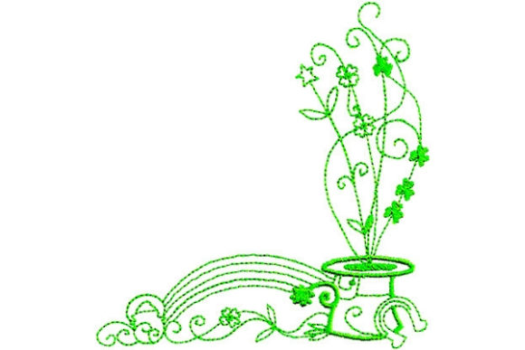 Enchanted Irish Luck St Patrick's Day Embroidery Design By Sue O'Very Designs - Image 1