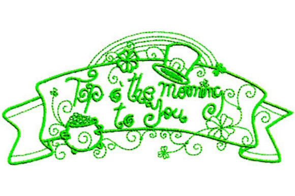 Enchanted Irish Luck St Patrick's Day Embroidery Design By Sue O'Very Designs