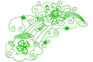 Enchanted Irish Luck St Patrick's Day Embroidery Design By Sookie Sews