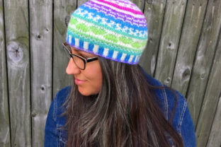 Fair Isle Amore Beanie Knit Pattern Graphic Knitting Patterns By Knit and Crochet Ever After