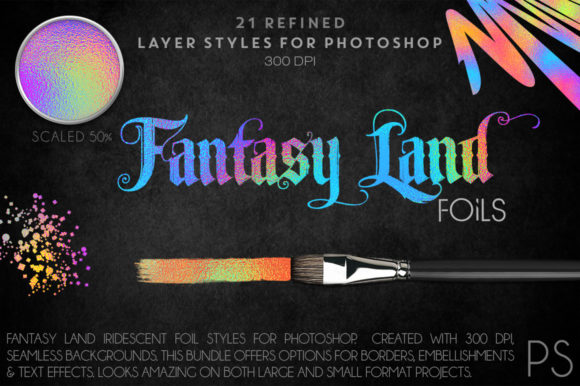 Fantasy Land Foils Graphic Layer Styles By FlyGirlMedia
