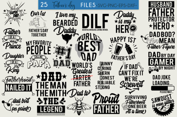 Father S Day Bundle 25 Designs Graphic By Freelingdesignhouse