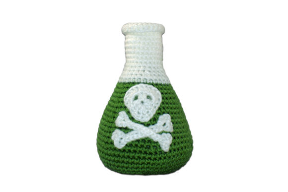 Flask with Poison Crochet Pattern Graphic