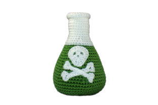 Flask with Poison Crochet Pattern Graphic Crochet Patterns By Knit and Crochet Ever After