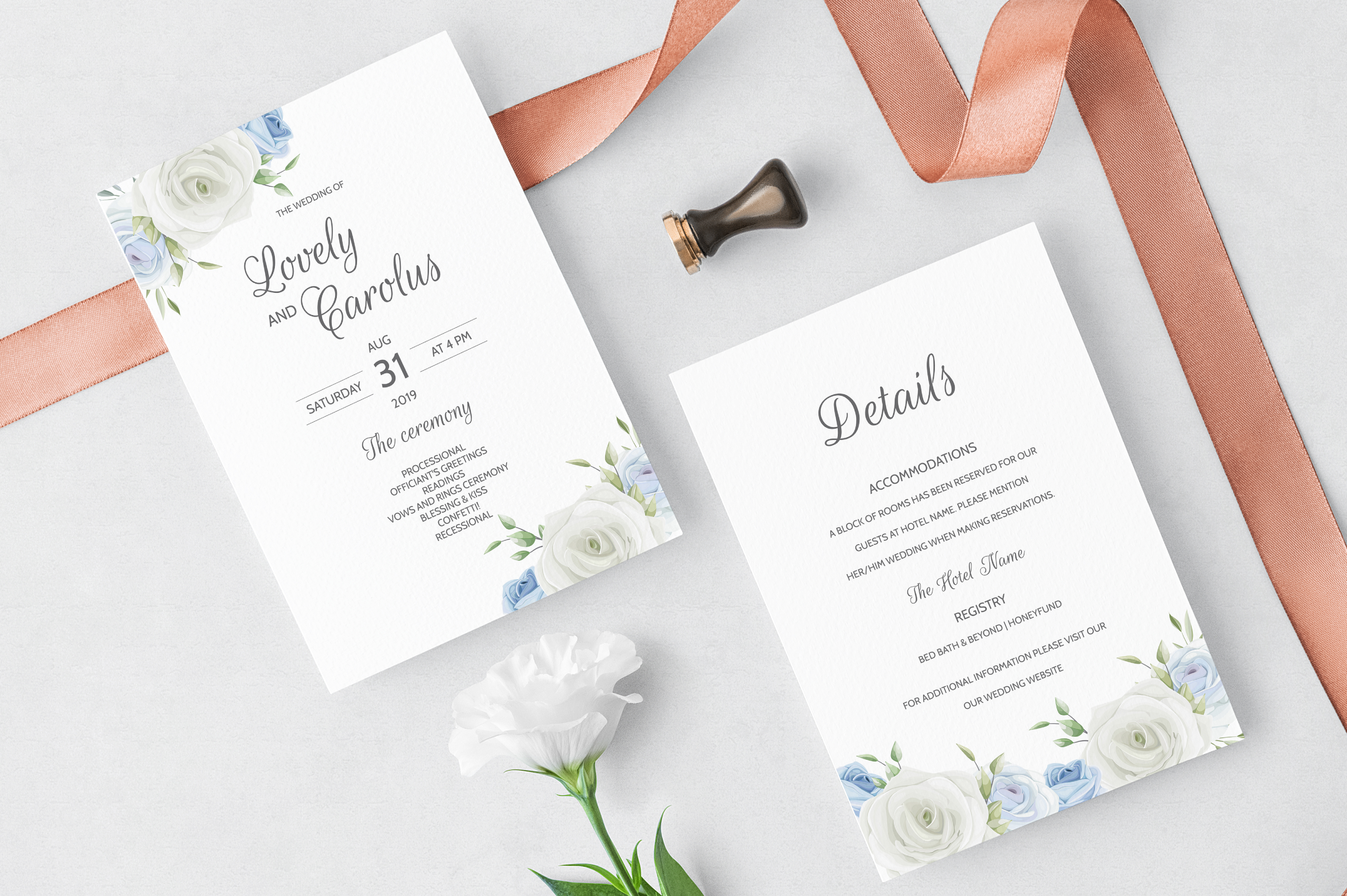 Download Free Floral Wreath Wedding Invitation Card Graphic By Dinomikael01 for Cricut Explore, Silhouette and other cutting machines.