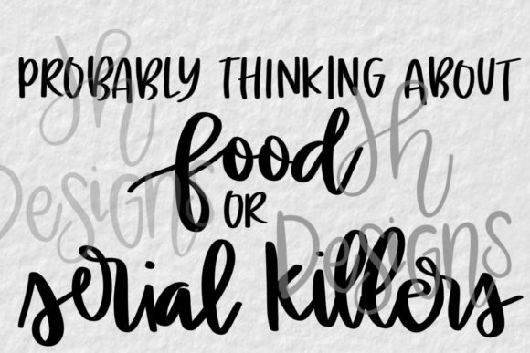 Food Serial Killer Sublimation Design Graphic Illustrations By JH Designs