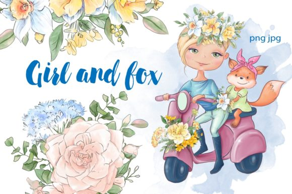 Print on Demand: Girl and Fox Graphic Illustrations By nicjulia