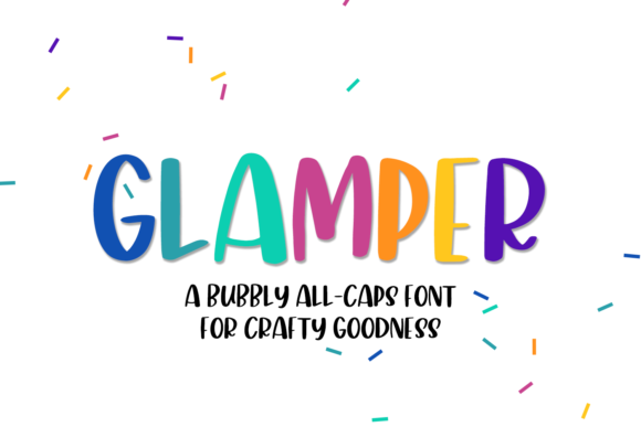 Print on Demand: Glamper Sans Serif Font By craftingfonts