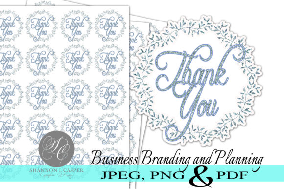 Download Free Glitter Print And Cut Thank You Stickers Grafico Por Shannon for Cricut Explore, Silhouette and other cutting machines.