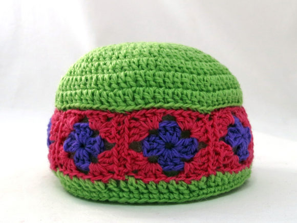 Granny Square Baby Booties and Beanie Graphic Item
