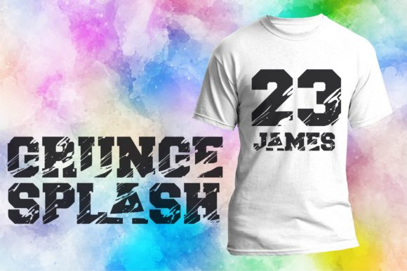 Print on Demand: Grunge Splash Display Font By Mr.pagman