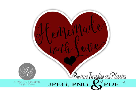 Download Free Handmade With Love Print And Cut Labels Graphic By Shannon for Cricut Explore, Silhouette and other cutting machines.
