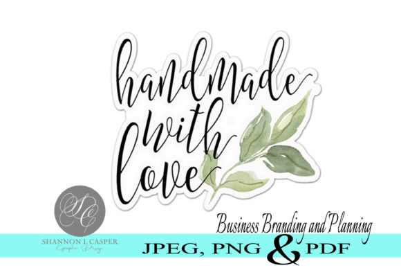 Download Free Handmade With Love Printable Labels Graphic By Shannon Casper for Cricut Explore, Silhouette and other cutting machines.