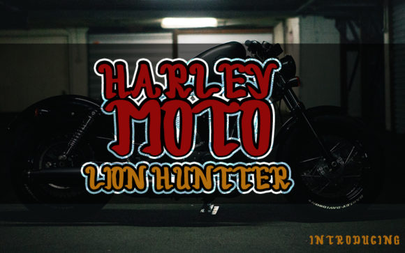 Print on Demand: Harley Moto Script & Handwritten Font By Inermedia STUDIO