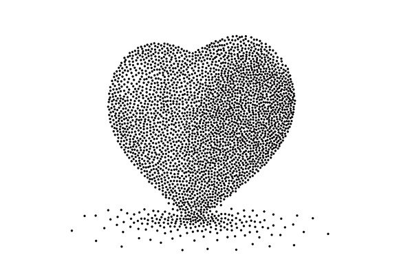 Heart Background Dots Illustration 3d Graphic Backgrounds By apple