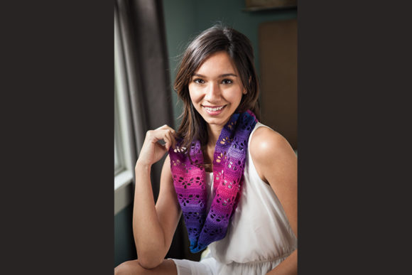 Heart Lace Infinity Scarf Graphic Crochet Patterns By Knit and Crochet Ever After