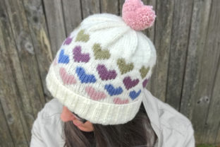 Hearts Around Beanie Knit Pattern Graphic Knitting Patterns By Knit and Crochet Ever After