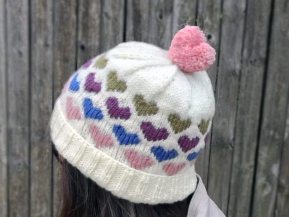 Hearts Around Beanie Knit Pattern Graphic Knitting Patterns By Knit and Crochet Ever After - Image 3