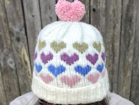 Hearts Around Beanie Knit Pattern Graphic Knitting Patterns By Knit and Crochet Ever After - Image 4