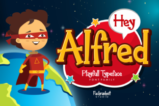 Print on Demand: Hey Alfred Display Font By fachranheit