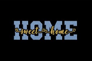 Print on Demand: Home, Sweet Home House & Home Quotes Embroidery Design By Embroidery Shelter
