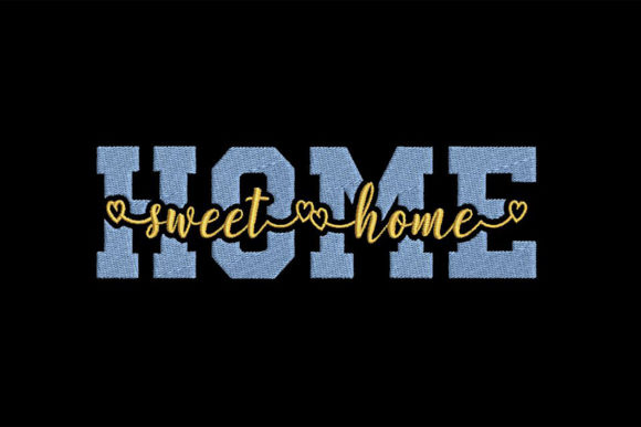 Home, Sweet Home House & Home Quotes Embroidery Design By Embroidery Shelter