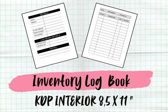 Print on Demand: Inventory Log Book | KDP Interior Graphic KDP Interiors By Hungry Puppy Studio