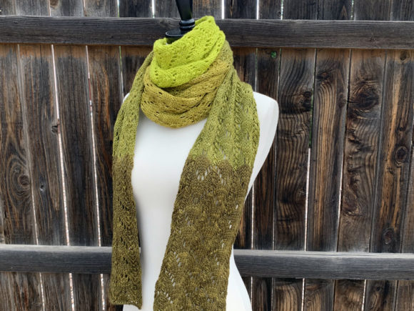Jade Scarf Knit Pattern Graphic Knitting Patterns By Knit and Crochet Ever After - Image 1