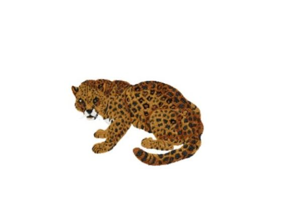 Jaguar Cats Embroidery Design By Red Moon Gardens