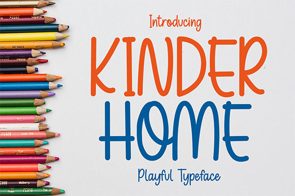 Print on Demand: Kinder Home Display Font By Bluestype Studio