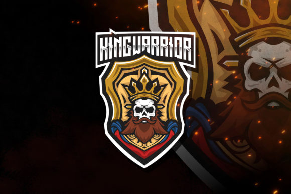 Download Free King Warrior Esport Logo Template Graphic By Stringlabs for Cricut Explore, Silhouette and other cutting machines.