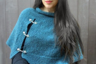 Lapis Capelet Graphic Knitting Patterns By Knit and Crochet Ever After