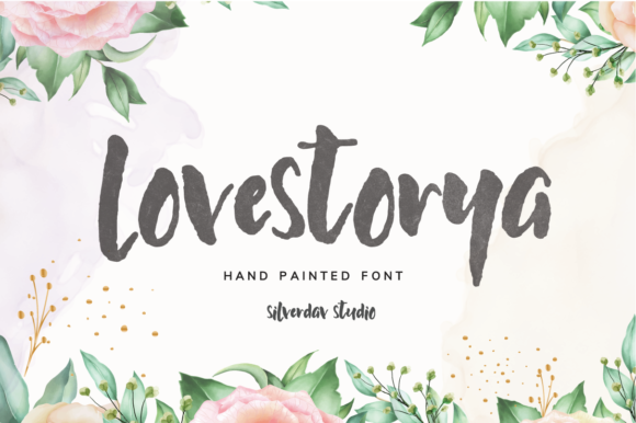 Print on Demand: Love Storya Script & Handwritten Font By silverdav