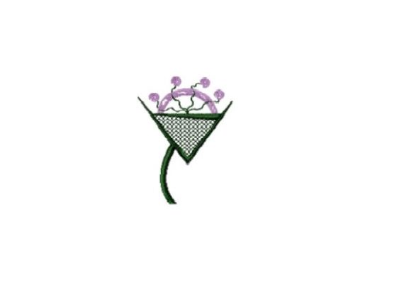 Lunation Wine Flower Sewing & Crafts Embroidery Design By Red Moon Gardens - Image 1