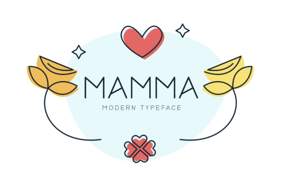 Print on Demand: Mamma Display Font By FontEden - Image 1