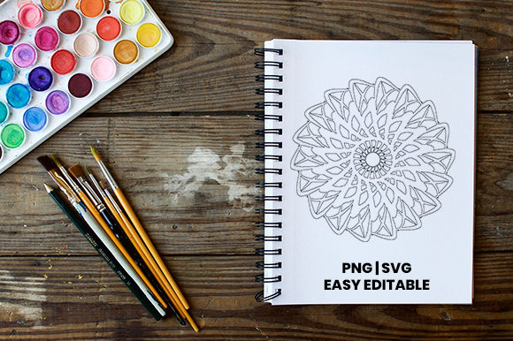 Download Free Mandala Coloring Template Graphic By Masyafi Creative Studio SVG Cut Files