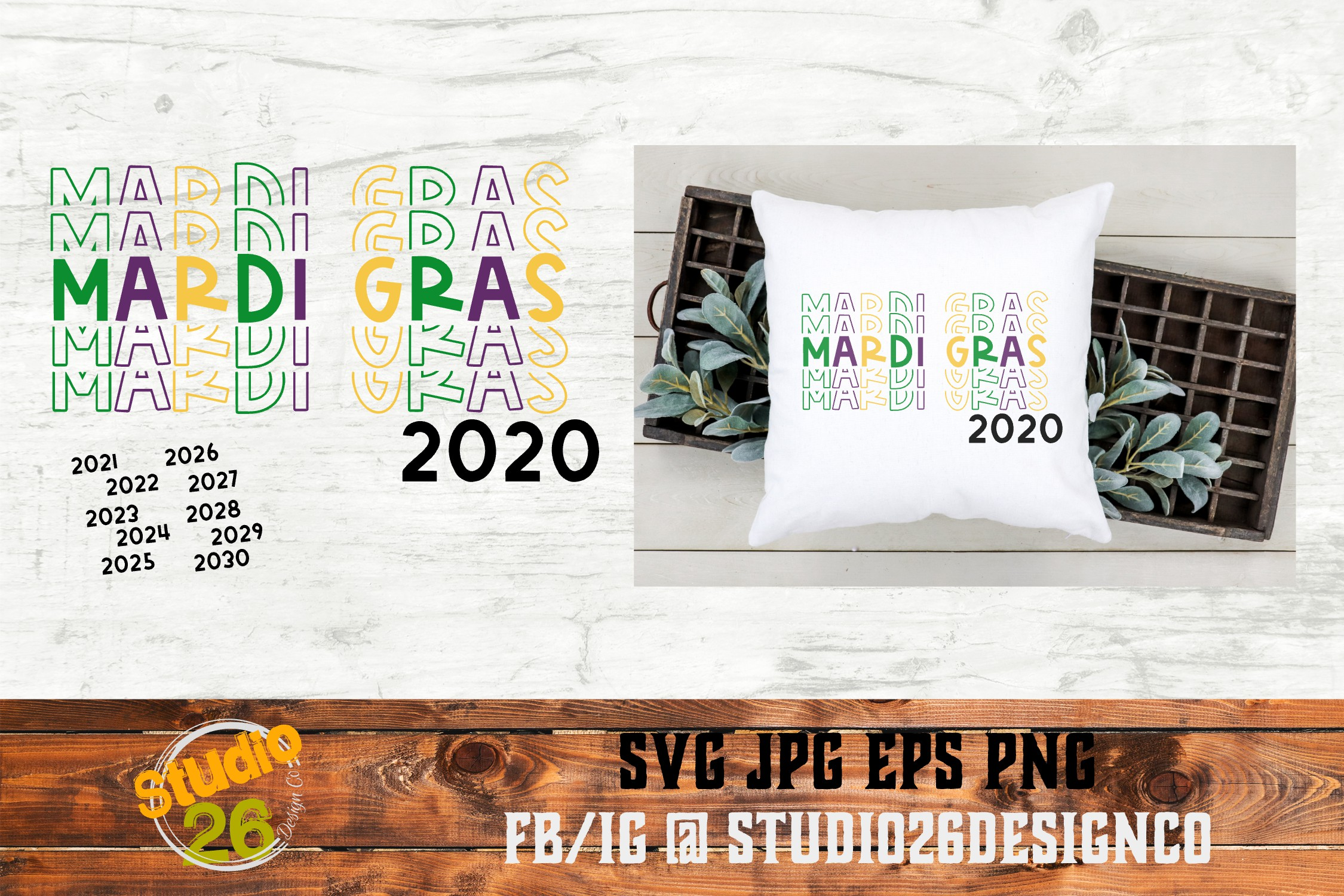 Download Free Mardi Gras Years Graphic By Studio 26 Design Co Creative Fabrica for Cricut Explore, Silhouette and other cutting machines.