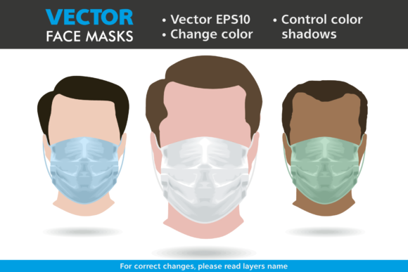 Download Free Medical Face Mask Vector Graphic By Pedro Alexandre Teixeira for Cricut Explore, Silhouette and other cutting machines.
