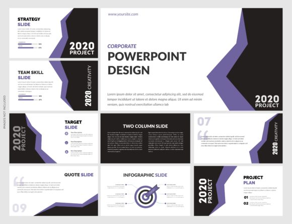 Download Free Modern Powerpoint Template Vector File Graphic By Lutfyhasan for Cricut Explore, Silhouette and other cutting machines.