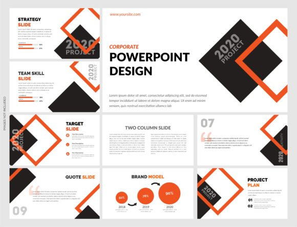 Download Free Modern Powerpoint Template Graphic By Lutfyhasan Creative Fabrica for Cricut Explore, Silhouette and other cutting machines.