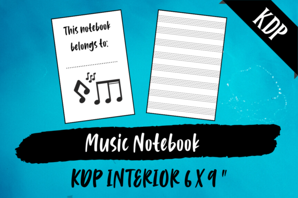 Print on Demand: Music Notebook | KDP Interior Graphic KDP Interiors By Hungry Puppy Studio