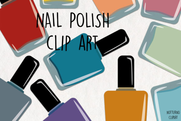 Download Free Nail Polish Clipart Graphic By Notturnoclipart Creative Fabrica for Cricut Explore, Silhouette and other cutting machines.