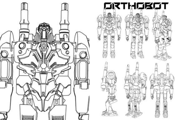 Print on Demand: Orthobot Graphic Illustrations By Gblack Id